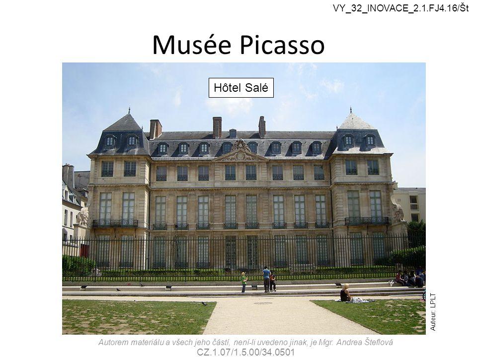Musée Picasso Autorem materiálu a všech jeho částí, není-li uvedeno jinak, je Mgr.