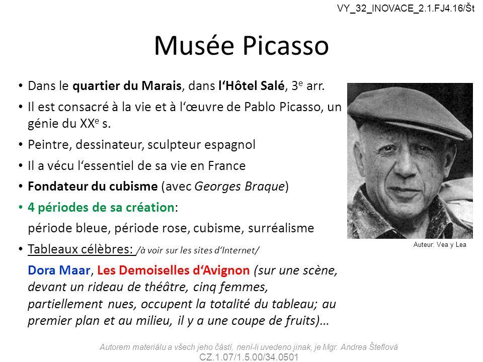 Musée Picasso Dans le quartier du Marais, dans l'Hôtel Salé, 3 e arr.