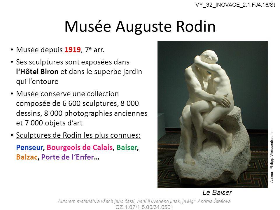 Musée Auguste Rodin Musée depuis 1919, 7 e arr.