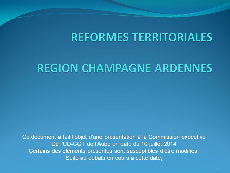 1 Ce document a fait l'objet d'une présentation à la Commission exécutive De l'UD-CGT de l'Aube en date du 10 juillet 2014 Certains des éléments prése