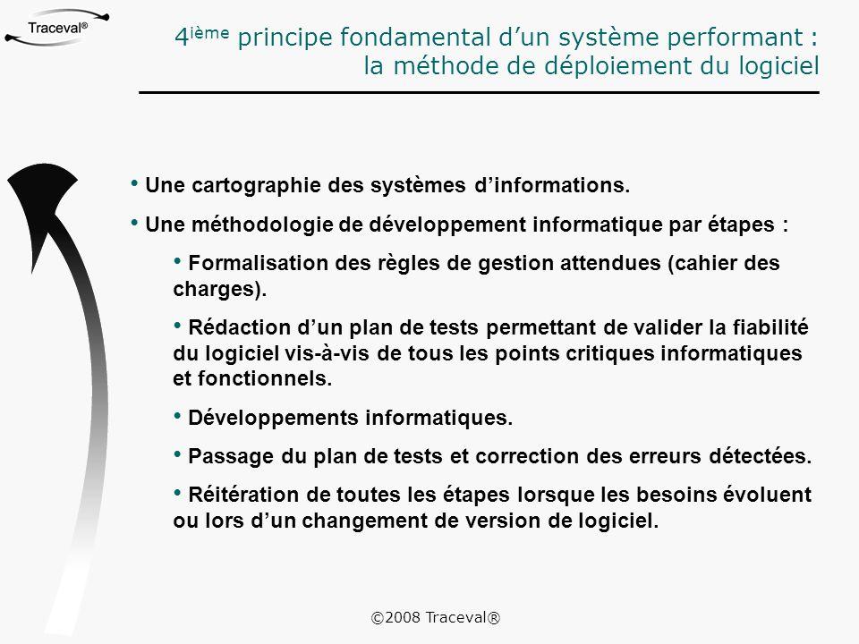 Une cartographie des systèmes d'informations. Une méthodologie de développement informatique par étapes : Formalisation des règles de gestion attendue