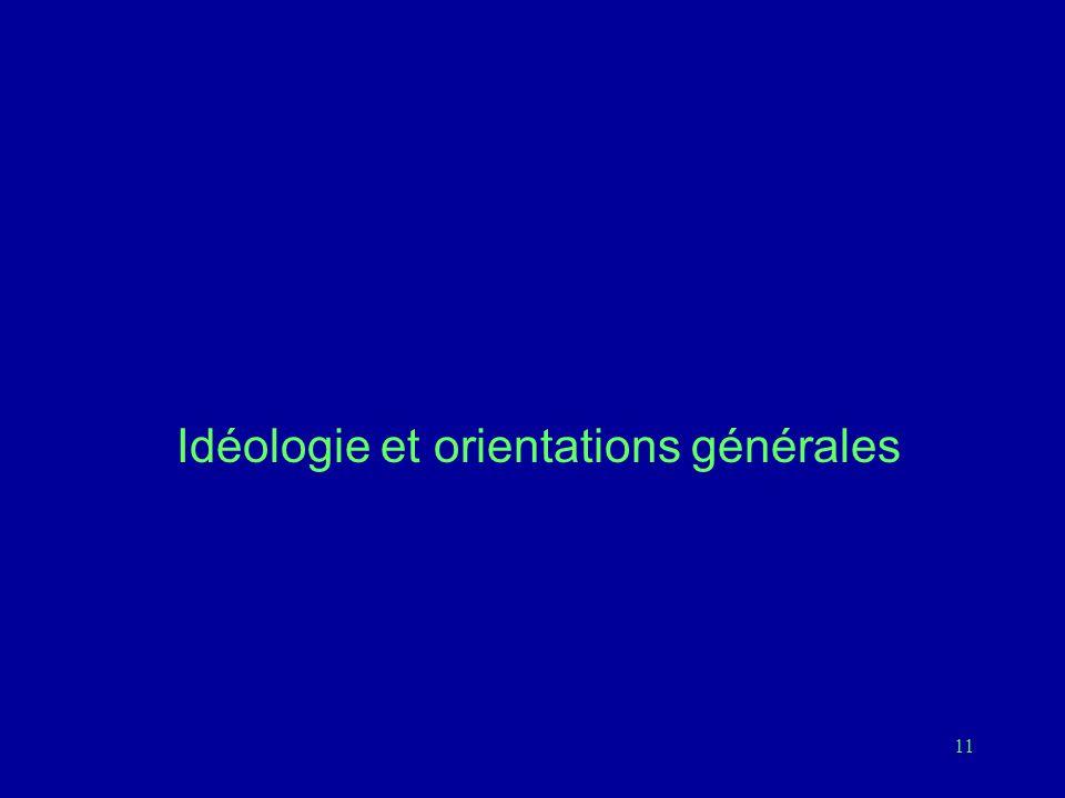 11 Idéologie et orientations générales