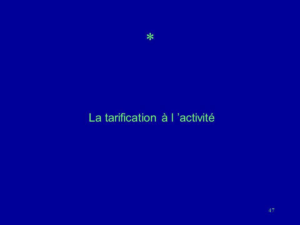 47 * La tarification à l 'activité