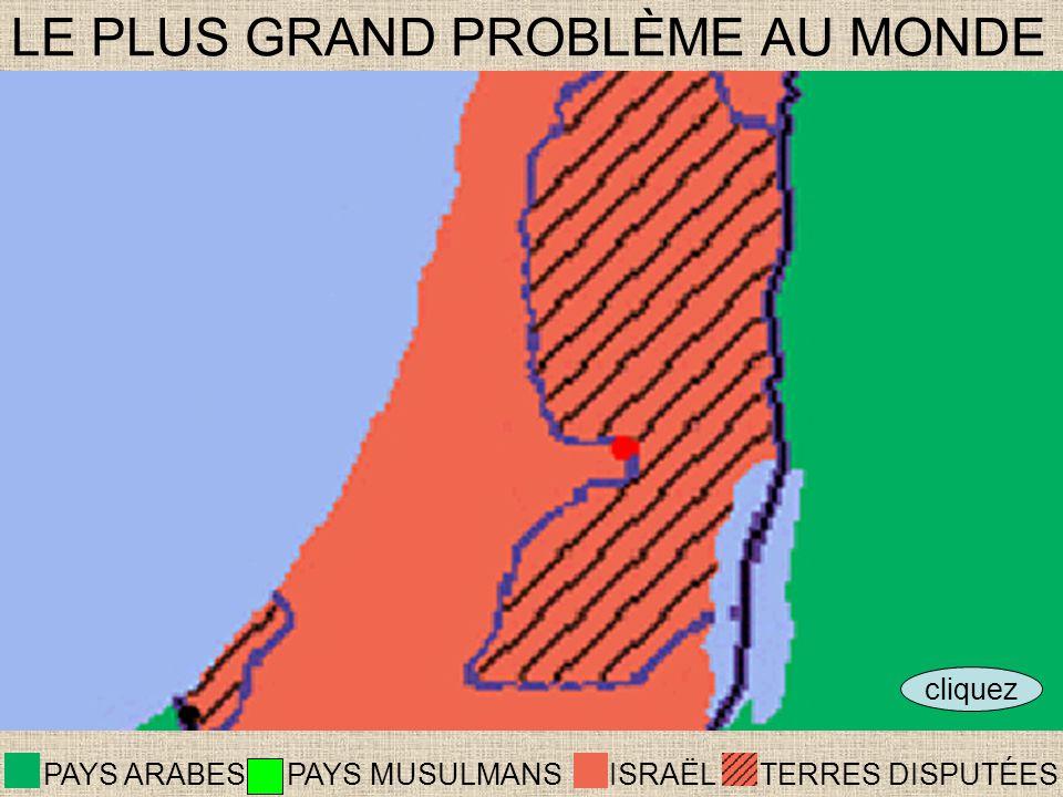 ISRAËLTERRES DISPUTÉES PAYS ARABES LE PLUS GRAND PROBLÈME AU MONDE cliquez PAYS MUSULMANS