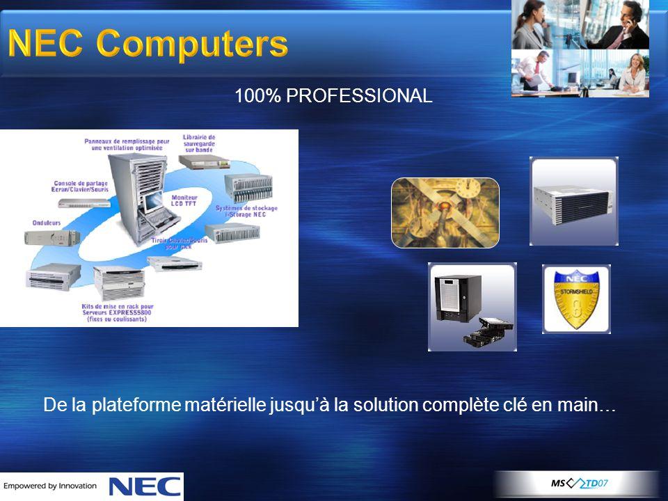 NEC Computers 100% PROFESSIONAL De la plateforme matérielle jusqu'à la solution complète clé en main…