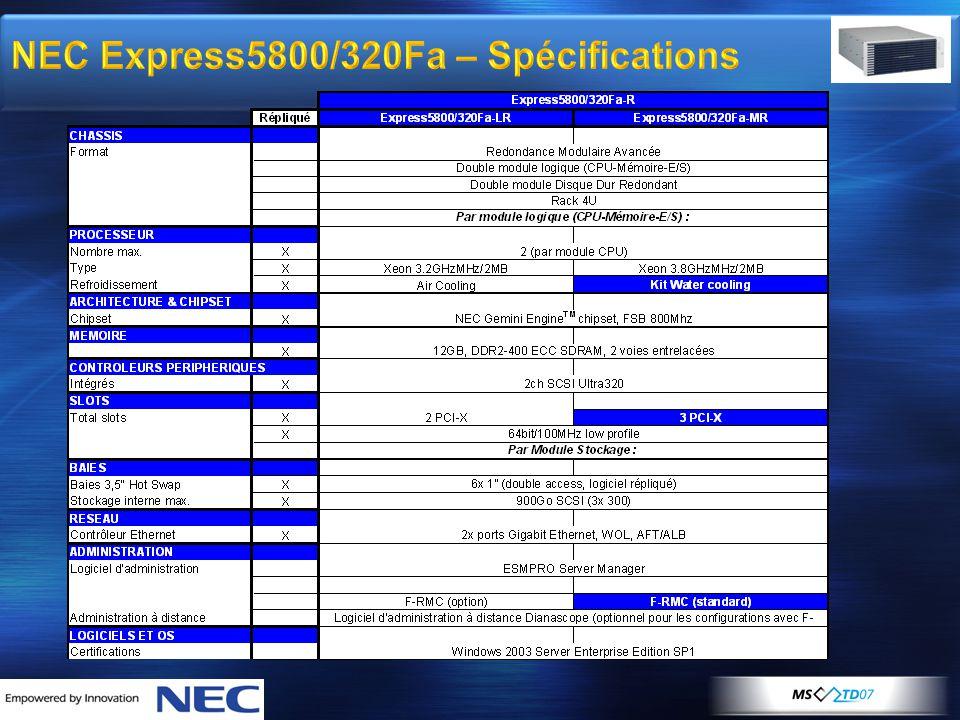 NEC Express5800/320Fa – Spécifications
