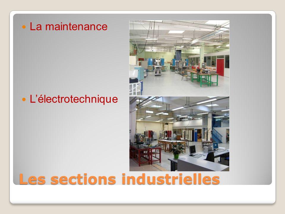 Les sections industrielles La maintenance L'électrotechnique