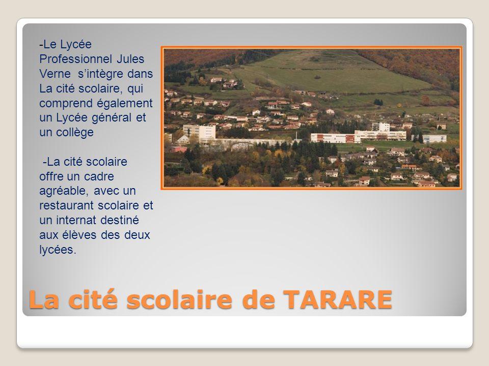 La cité scolaire de TARARE -Le Lycée Professionnel Jules Verne s'intègre dans La cité scolaire, qui comprend également un Lycée général et un collège