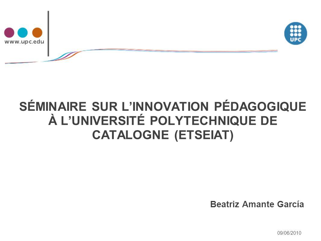 Programme : 1 – Présentation de UPC et l'ETSEIAT « nouvelles formations ».