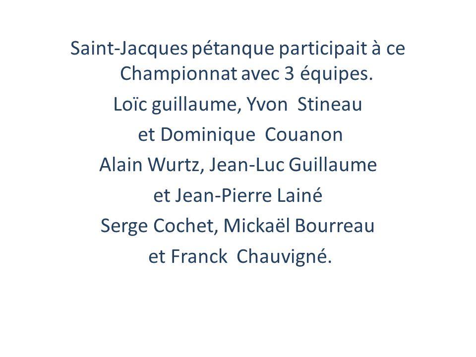 Saint-Jacques pétanque participait à ce Championnat avec 3 équipes.
