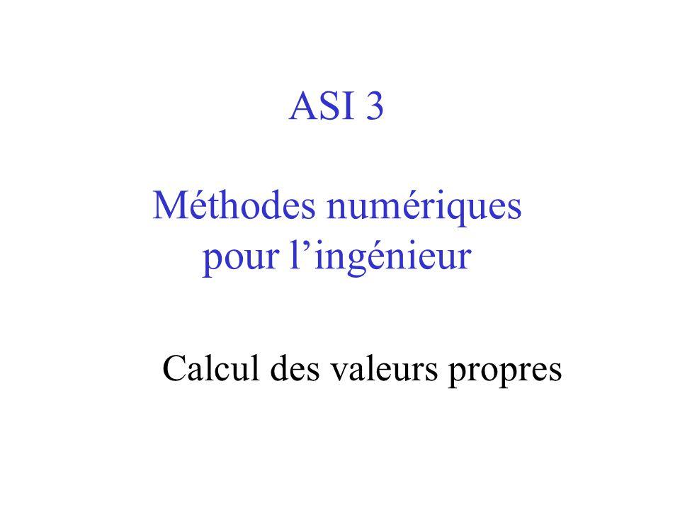 ASI 3 Méthodes numériques pour l'ingénieur Calcul des valeurs propres