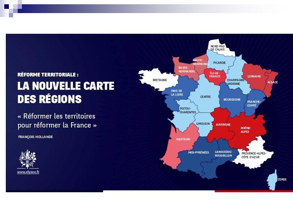 Juin 2014 Projet de loi portant nouvelle organisation territoriale de la République NOR : RDFX1412429L/Rose-1 le Premier ministre a annoncé un objectif de regroupements pour obtenir une division par deux de leur nombre.