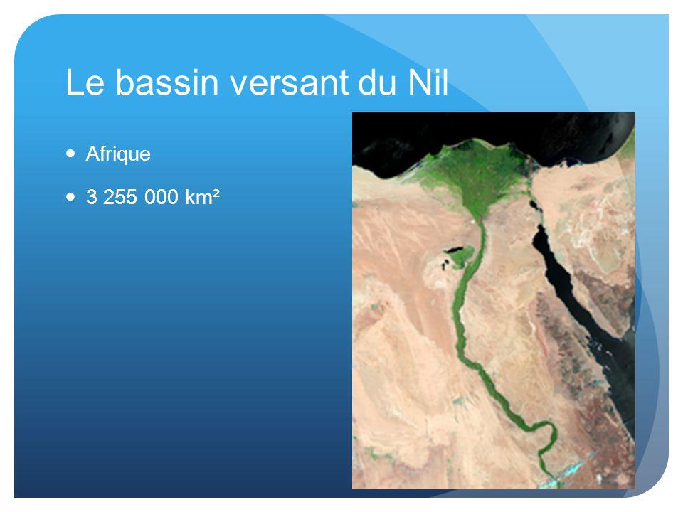 Le bassin versant du Nil Afrique 3 255 000 km²