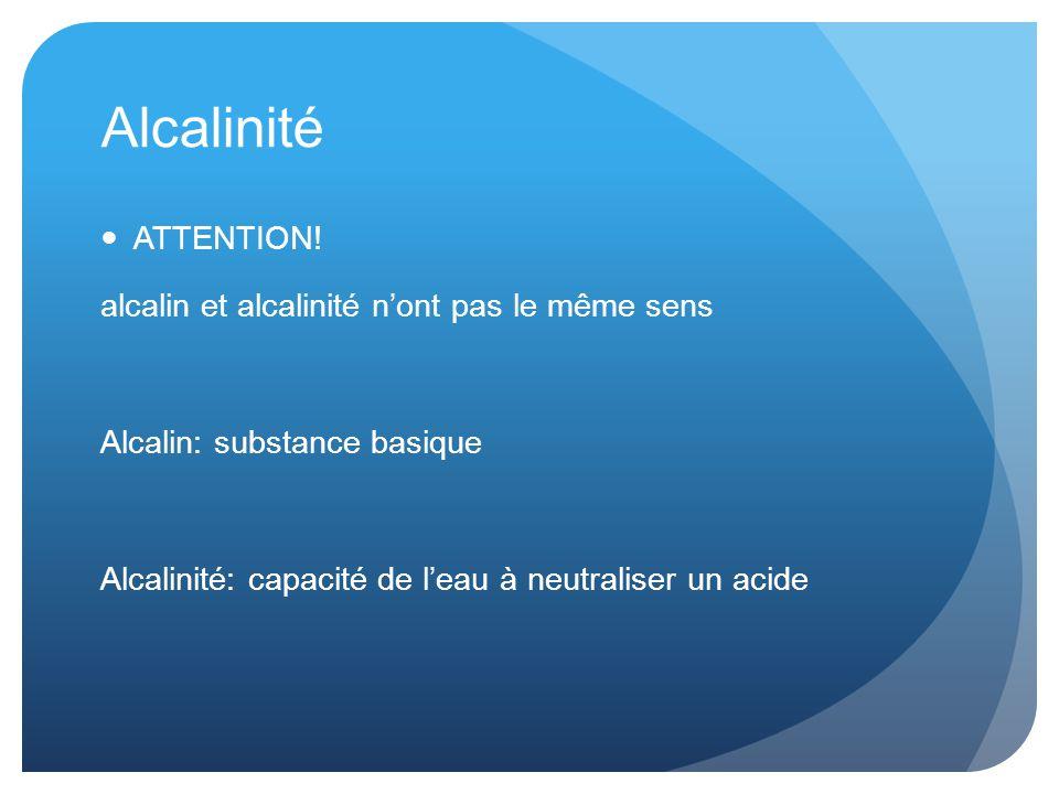 Alcalinité ATTENTION.