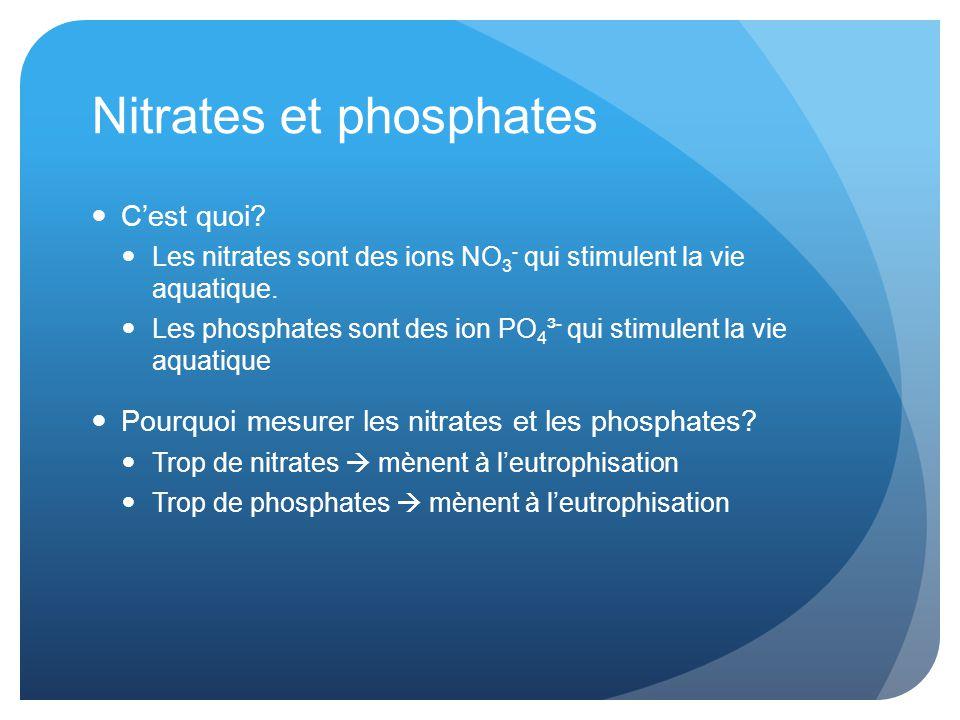 Nitrates et phosphates C'est quoi.