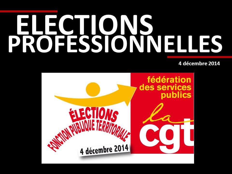 PROFESSIONNELLES ELECTIONS 4 décembre 2014