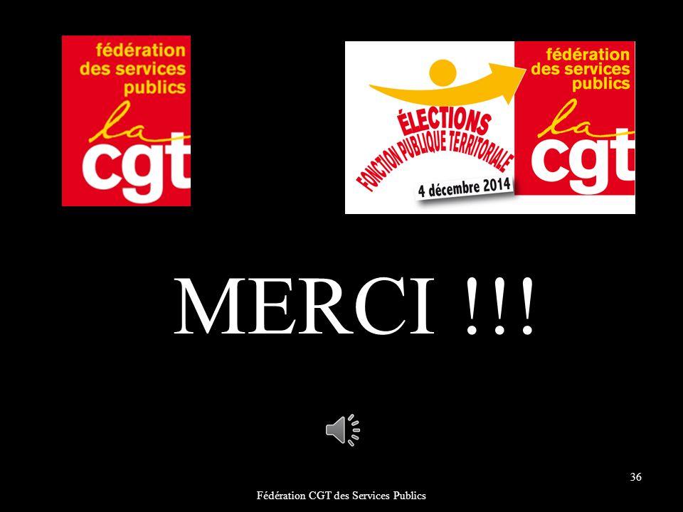 Fédération CGT des Services Publics 36 MERCI !!!