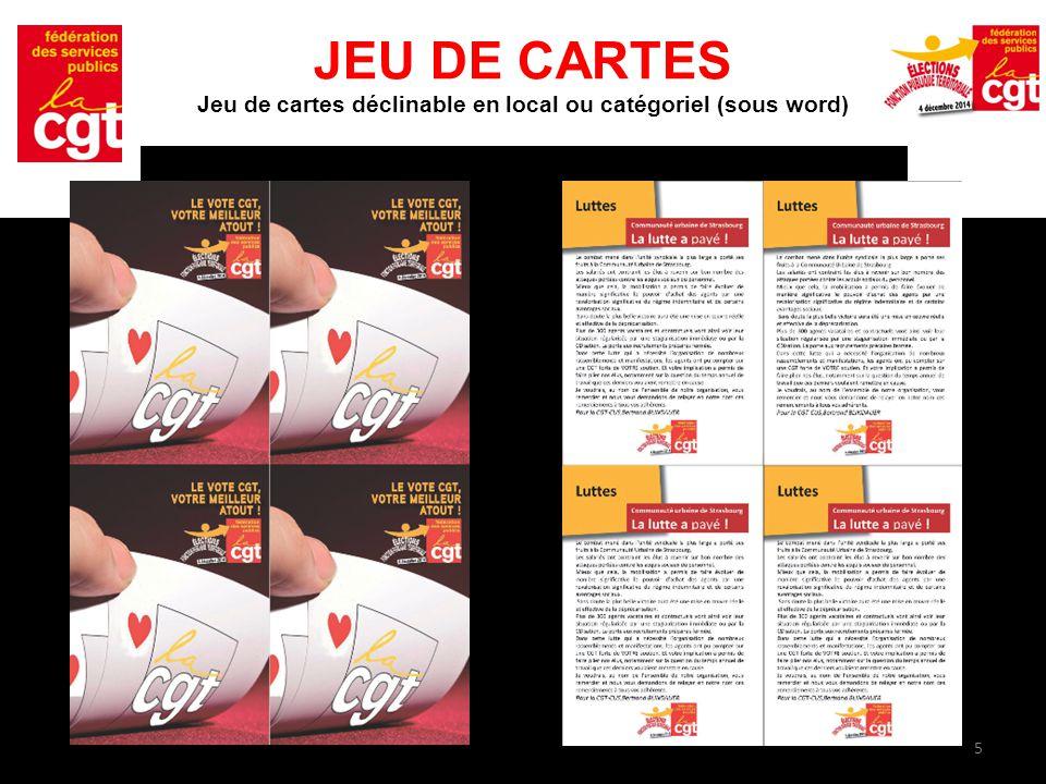 5 JEU DE CARTES Jeu de cartes déclinable en local ou catégoriel (sous word)