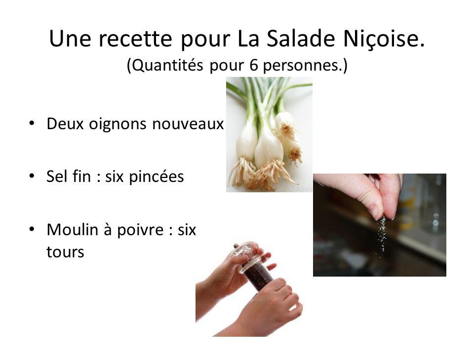 Une recette pour La Salade Niçoise.