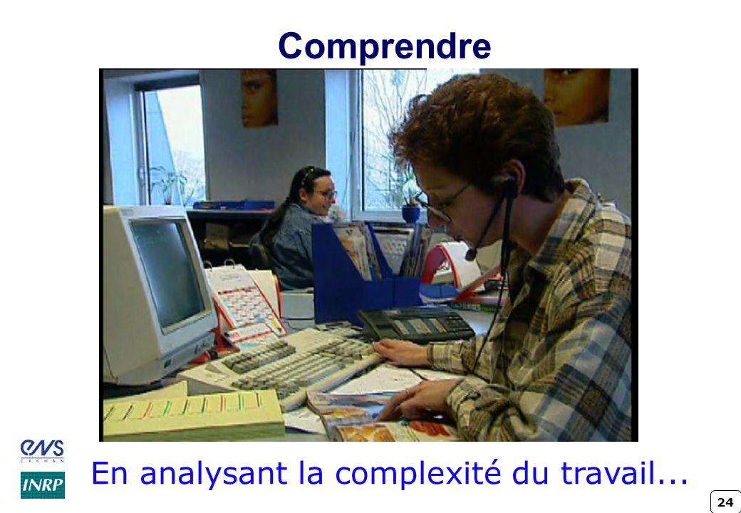 24 Comprendre En analysant la complexité du travail...