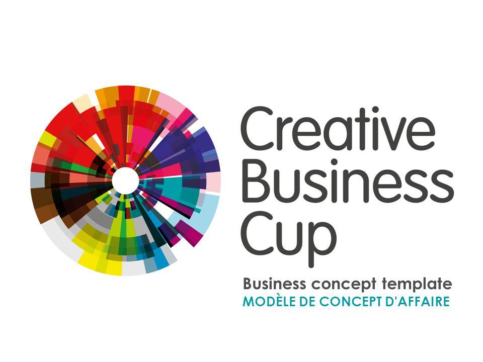 Business concept template MODÈLE DE CONCEPT D'AFFAIRE