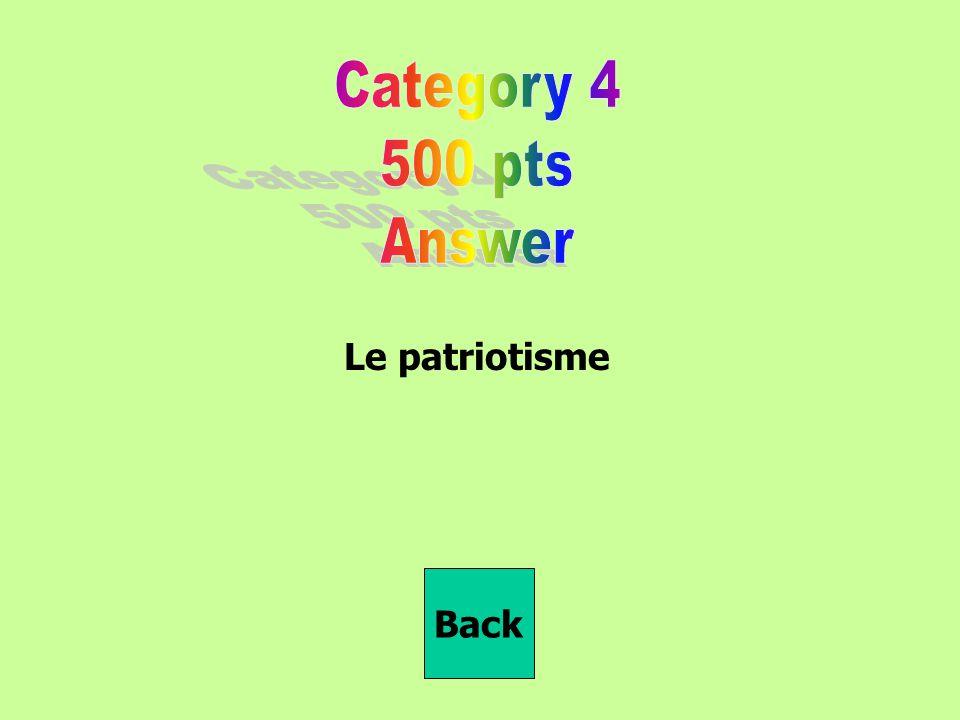 Le patriotisme Back