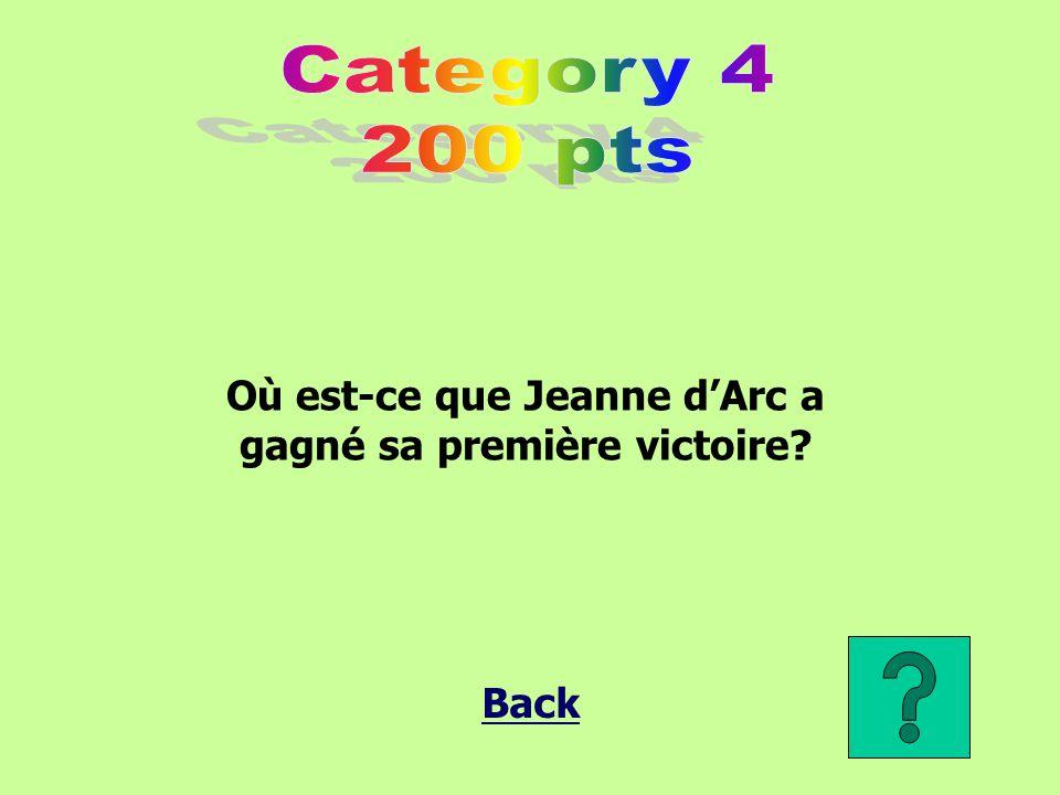 Où est-ce que Jeanne d'Arc a gagné sa première victoire?