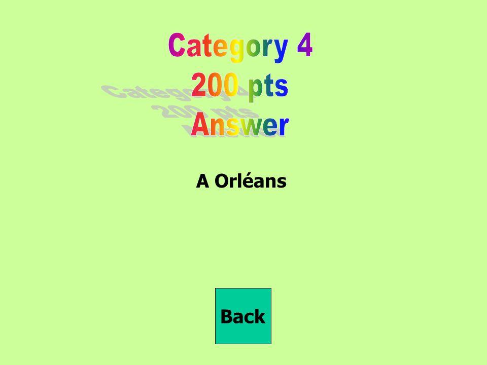 A Orléans Back