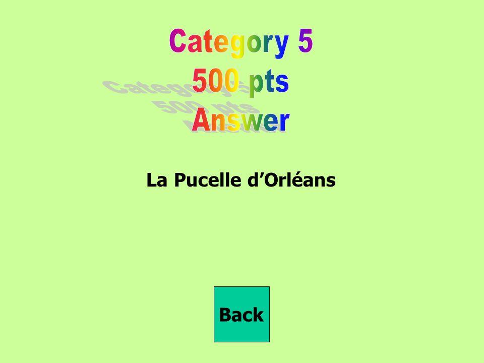 La Pucelle d'Orléans Back
