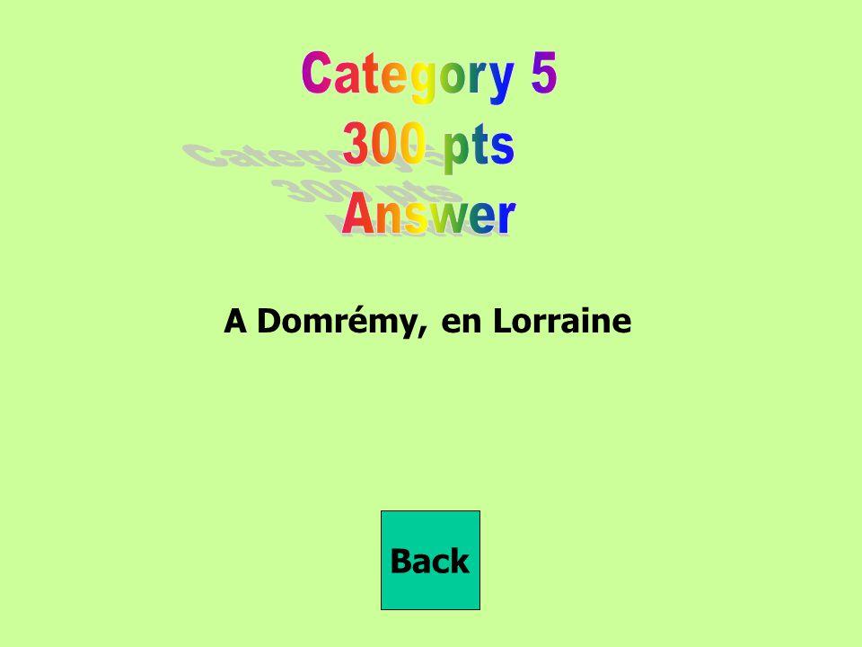 A Domrémy, en Lorraine Back