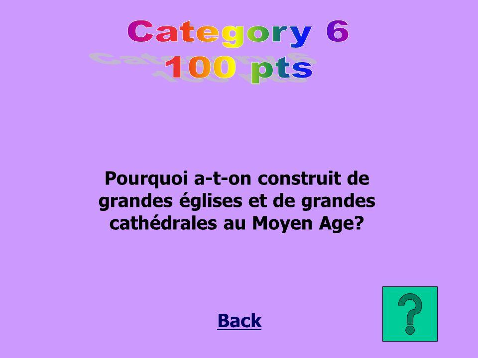 Pourquoi a-t-on construit de grandes églises et de grandes cathédrales au Moyen Age? Back