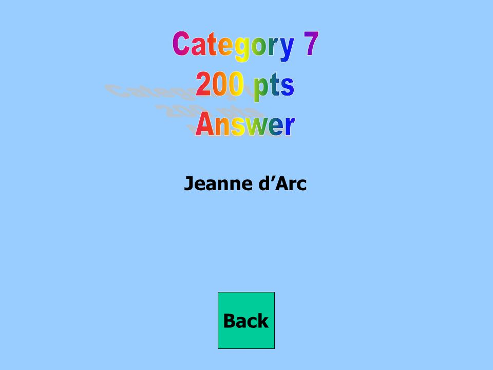 Jeanne d'Arc Back