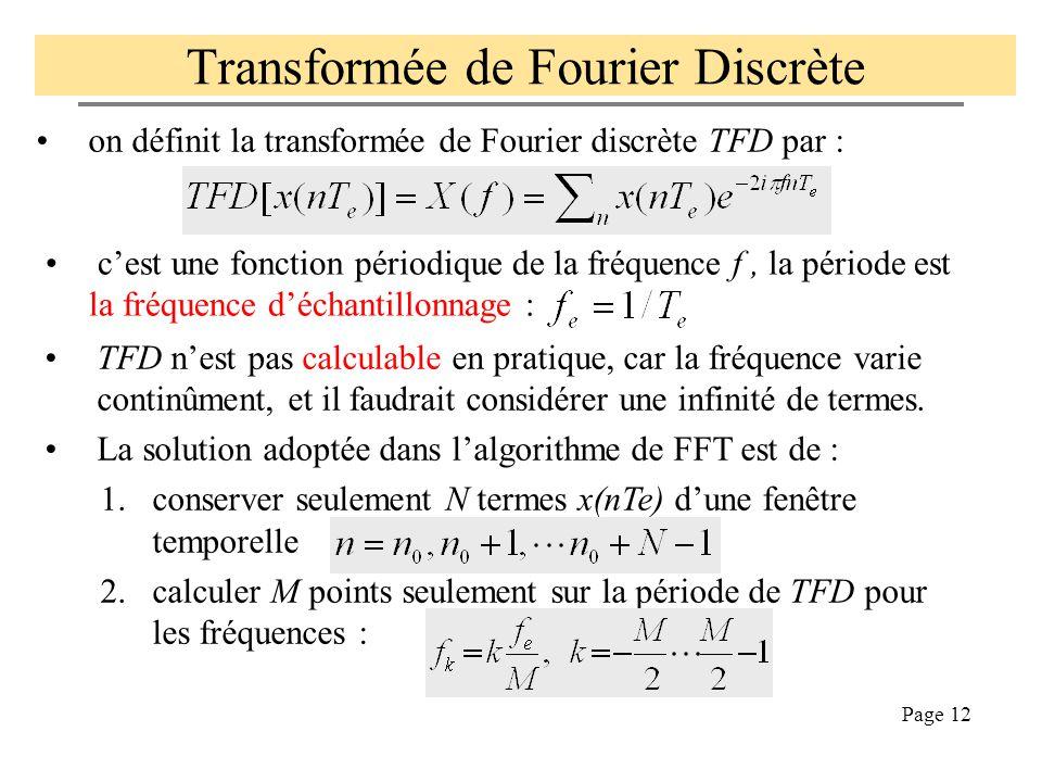 Page 11 Bbc.wav Signal à spectre ou à bande limitée Se dit d'un signal s(t) dont le spectre S(f) est nul au delà d'une fréquence limite F LIM. Sur le