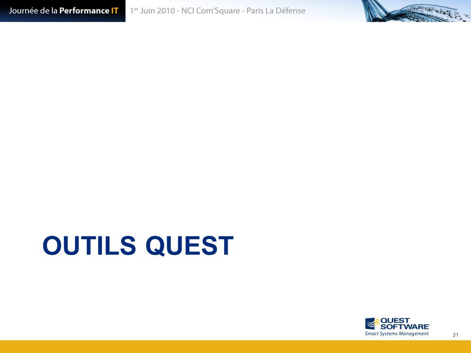 OUTILS QUEST 21