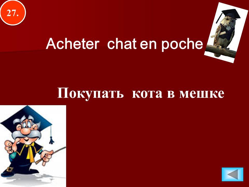 27. Acheter chat en poche Покупать кота в мешке