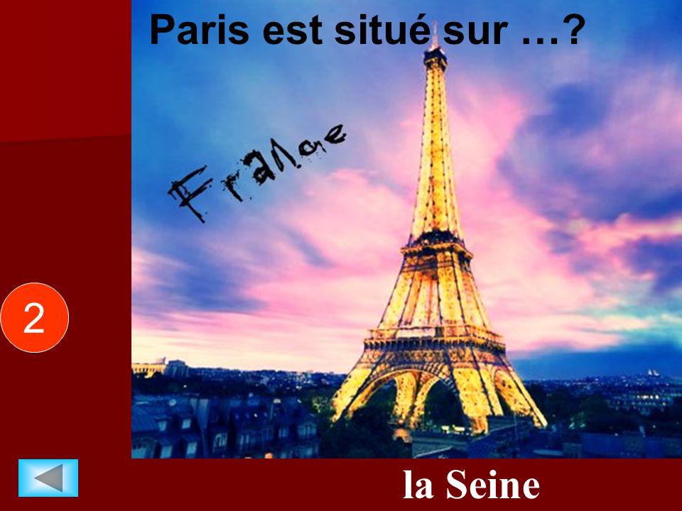 la Seine Paris est situé sur …? 2