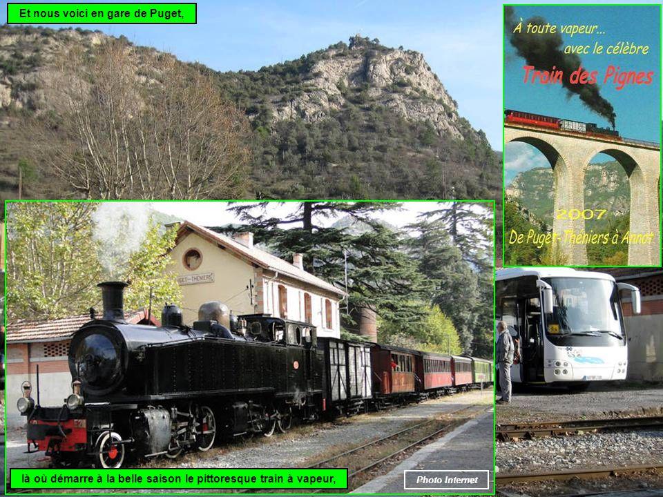 Et nous voici en gare de Puget, là où démarre à la belle saison le pittoresque train à vapeur, Photo Internet