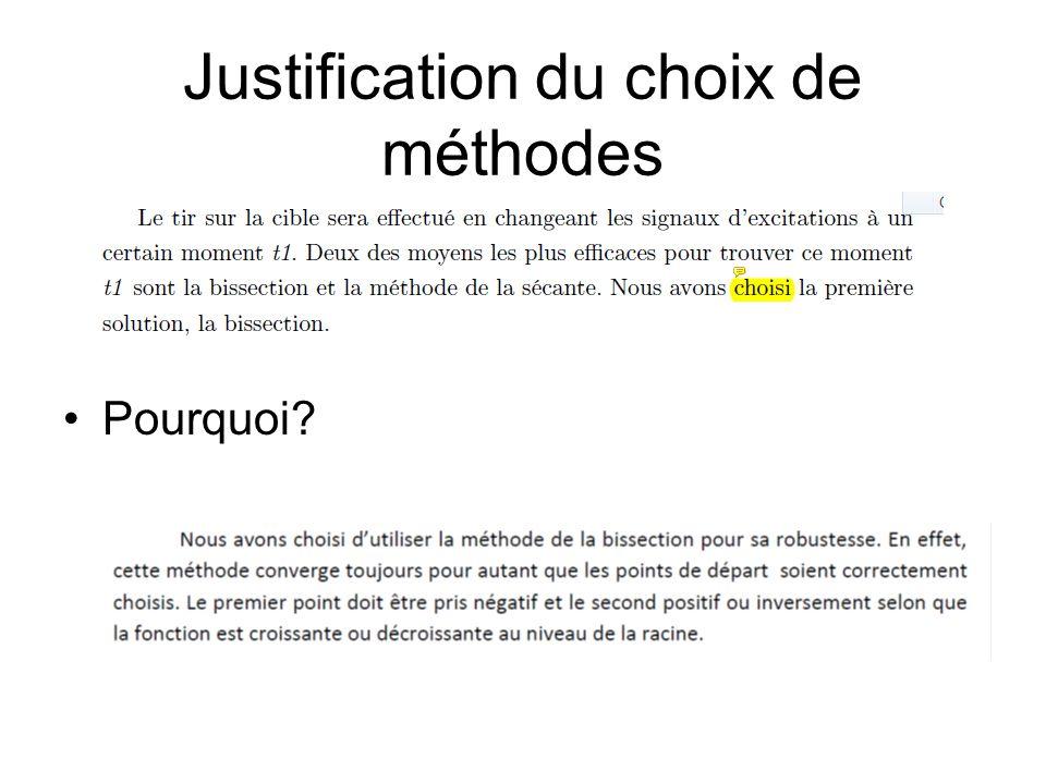 Justification des choix numériques des méthodes  quelle est la précision d ode45?