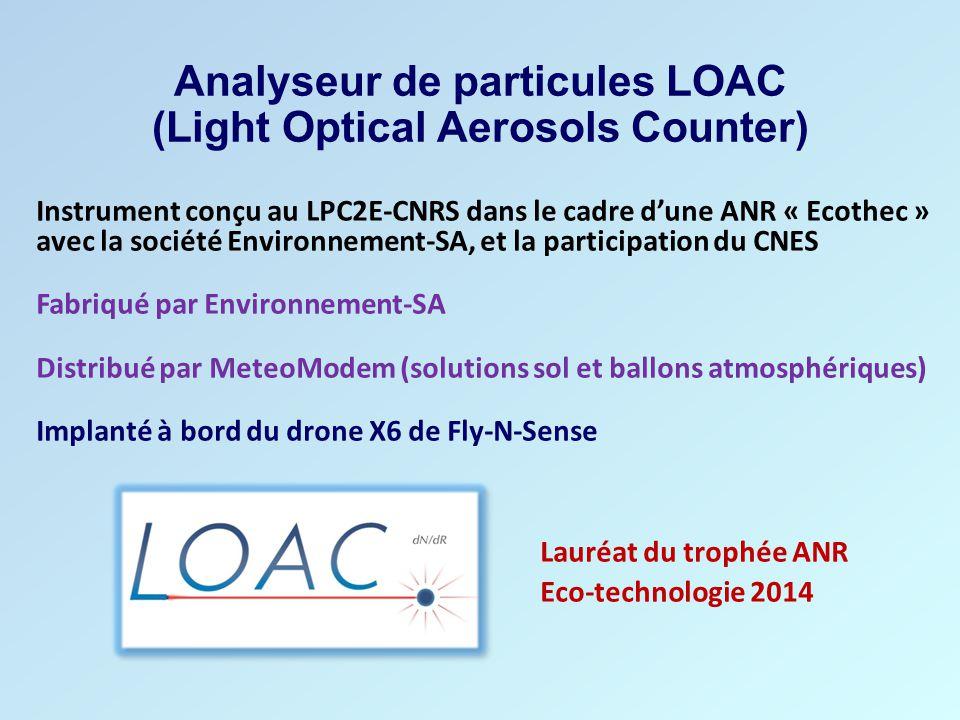 Analyseur de particules LOAC (Light Optical Aerosols Counter) Instrument conçu au LPC2E-CNRS dans le cadre d'une ANR « Ecothec » avec la société Envir