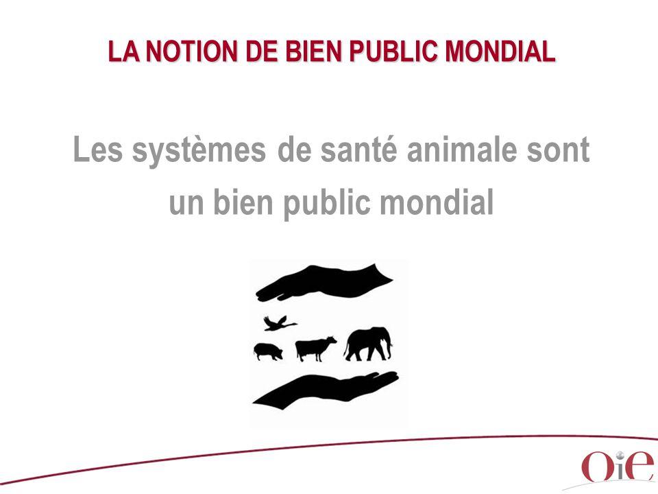 LA NOTION DE BIEN PUBLIC MONDIAL Les systèmes de santé animale sont un bien public mondial