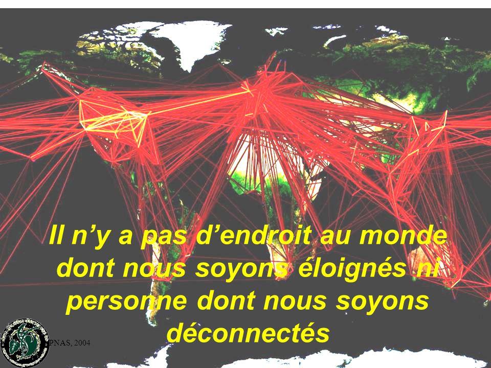 PNAS, 2004 Il n'y a pas d'endroit au monde dont nous soyons éloignés ni personne dont nous soyons déconnectés
