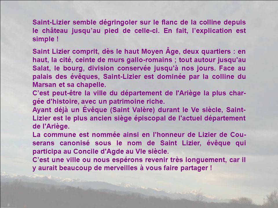 Cette partie de l'Ariège est une région de châteaux.