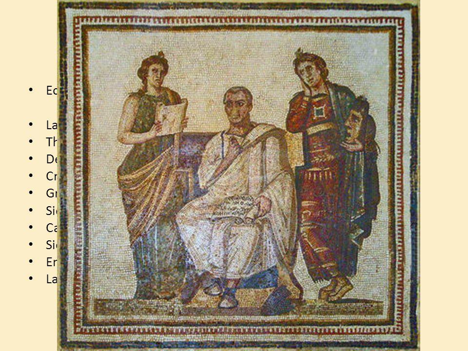 Ses périples Ecrits = Enéide de Virgile = Epopée en vers La guerre de Troie Thrace Délos Crète Grèce Sicile Carthage Sicile Enfers Latium