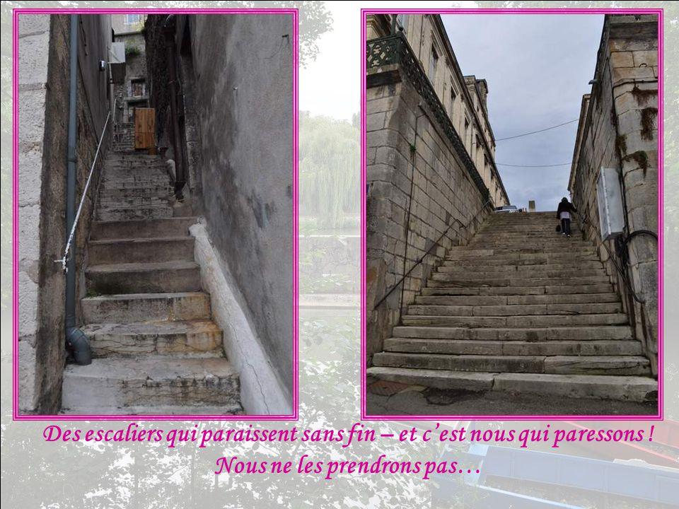 Des escaliers qui paraissent sans fin – et c'est nous qui paressons ! Nous ne les prendrons pas…