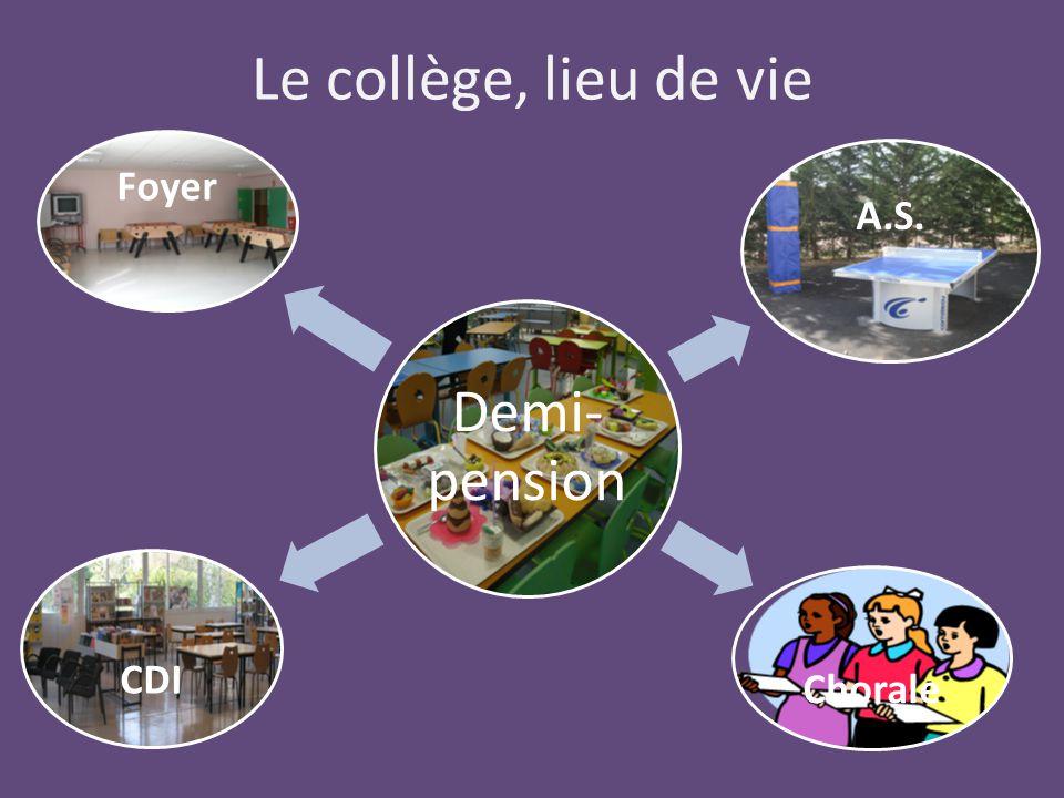 Le collège, lieu de vie Demi- pension Foyer A.S. Chorale CDI
