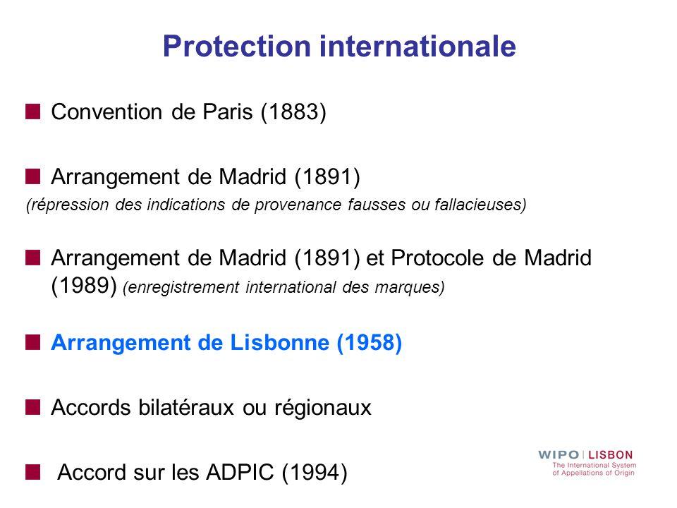 Le système de Lisbonne pour la protection internationale des Appellations d'origine