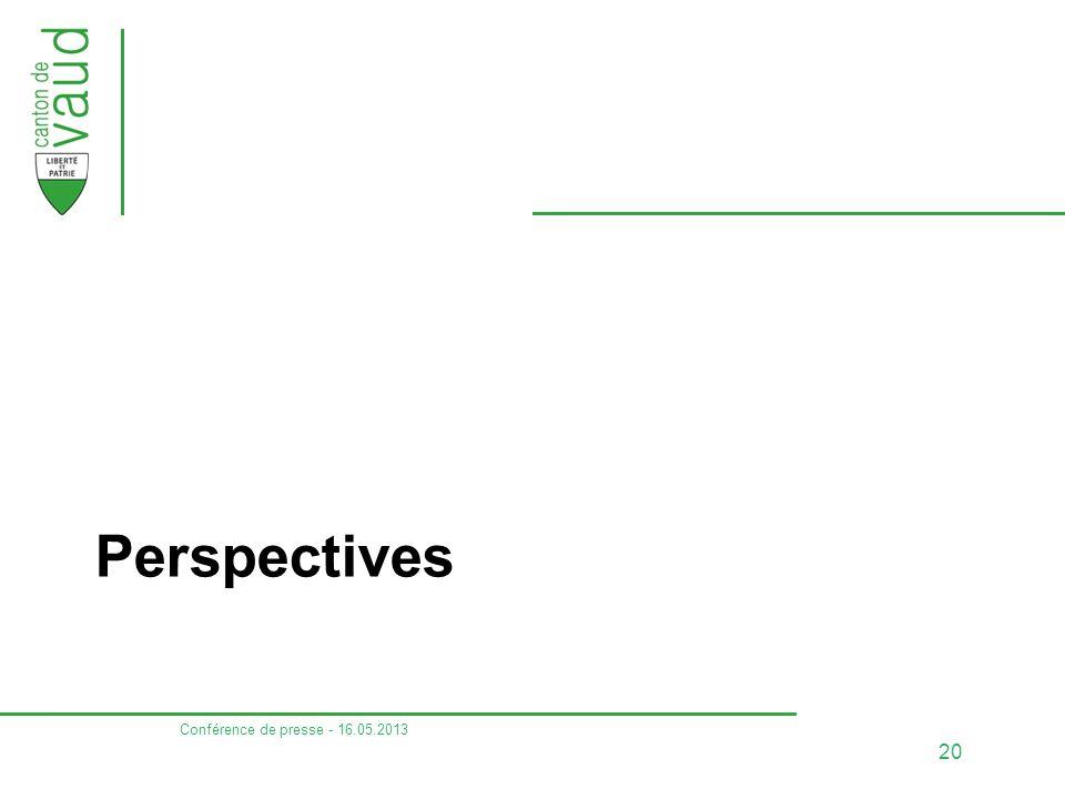 Perspectives Conférence de presse - 16.05.2013 20