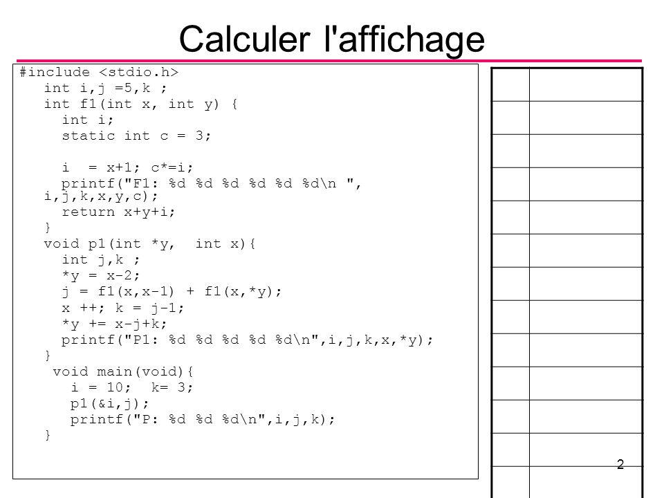 B.Shishedjiev - Informatique II3 Le maximum 3 b>max fin non oui max int max3(a,b,c) max = b max = a c>max non oui max = c int max(inta,int b,int c){ int max = a;....