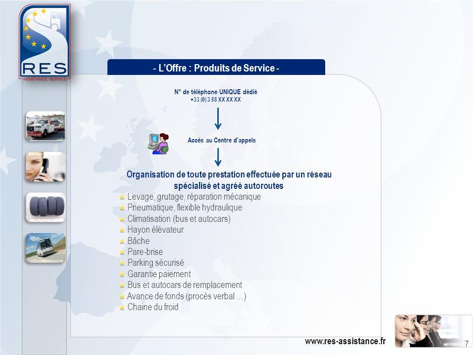 Organisation de toute prestation effectuée par un réseau spécialisé et agréé autoroutes Levage, grutage, réparation mécanique Pneumatique, flexible hy