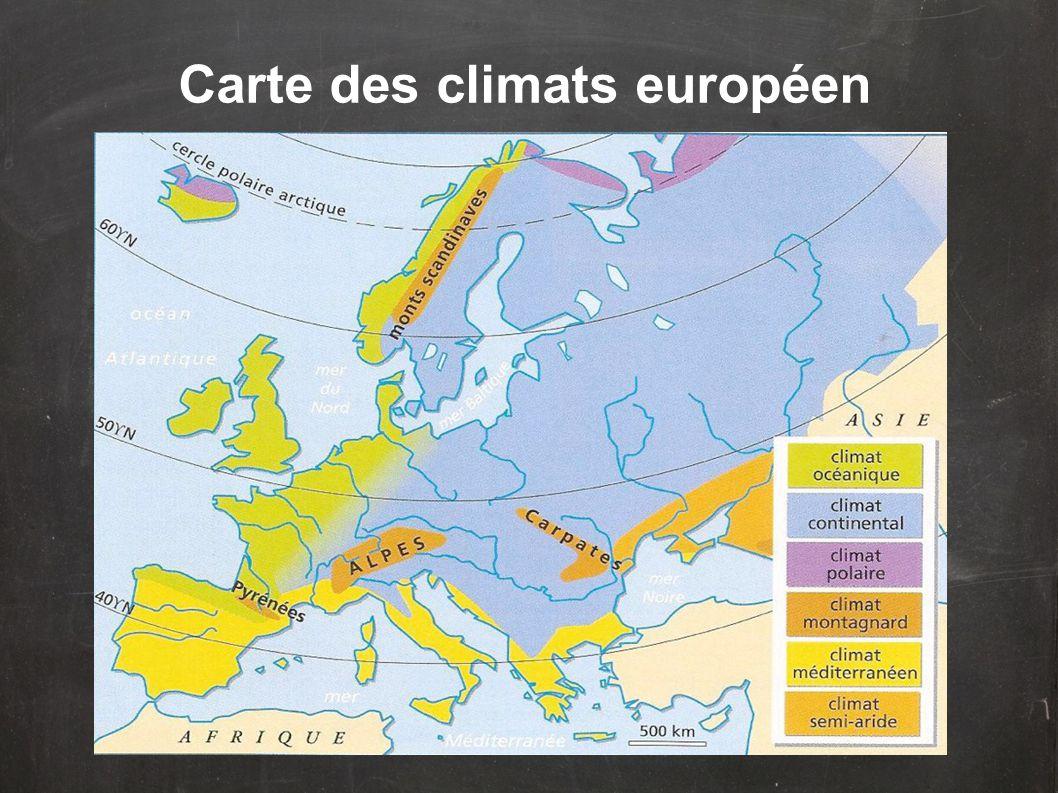 Ce sont essentiellement les influences provenant de l'océan et de la mer (Atlantique, Méditerranée) ou du continent qui déterminent les types de climat.
